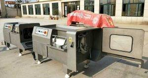 Sand-Blast-Stainless-Steel-Frozen-Meat-Cube-Shape-Cutting-Machine-for-Malaysia-Customer