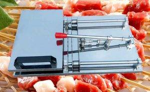 Manual Type BBQ Meat Skewer Machine