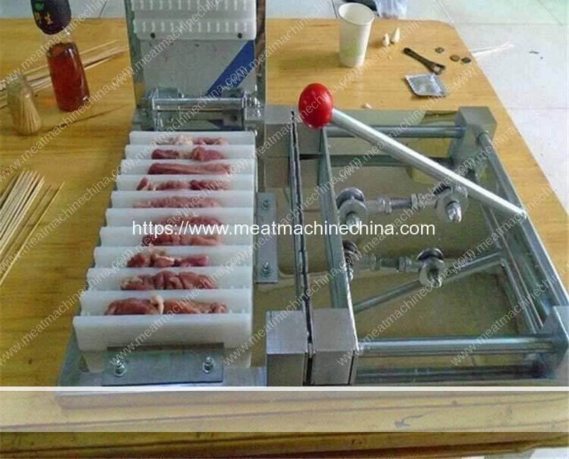 Manual-Type-BBQ-Meat-Skewer-Making-Machine