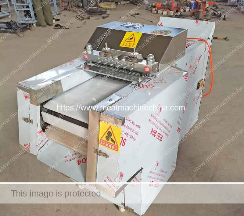 Automatic-Chicken-Meat-Block-Cutter-Machine-for-France